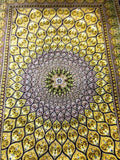 3x5 Persian Carpet Qum Signed Mohammadi 100% Silk Authentic Rug Hand Knotted Qom