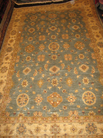Afghan Chobi Carpet Chobee Design 7x10 Hand Knotted 350 kpsi Blue Turquoise Rug
