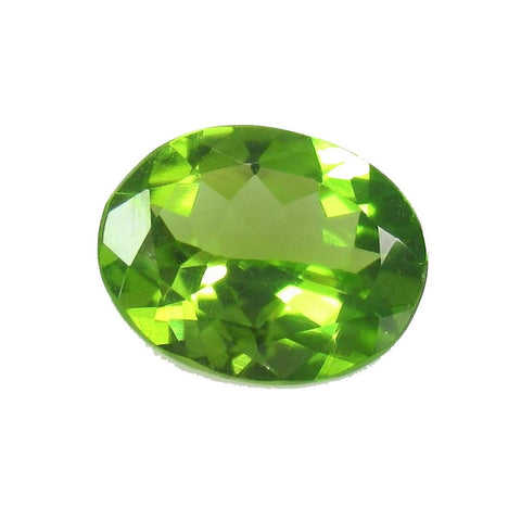 Peridot Gem Oval Cut 1 Ct Lime Green Pakistan Natural VS
