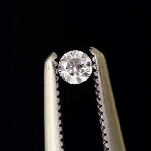White Diamond Gem Round Cut 2mm African Genuine Micro Sized