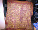CASHMERE BLANKET AFGHAN bed spread wool patu long kashmir indian sofa couch large throw 9x7