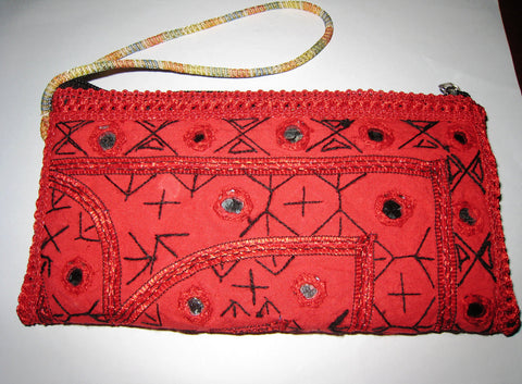 1b2cbc5bae ... WOMENS LADIES TRADITIONAL embroidered clutch bag hand embroidery mirror  work south asian indian pakistani afghan ethnic ...