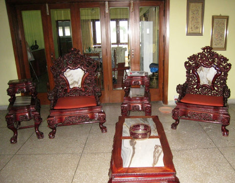Chinese Hand Made Vintage Antique Rose Wood Furniture Induscarpets