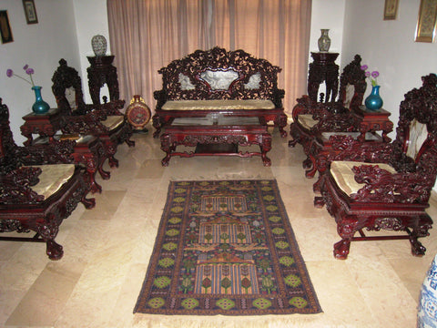 Exceptional CHINESE HAND MADE Ultra Rare Rose Wood Living Room Furniture Set Oriental  Asia Antique Singapore Collectors Part 9