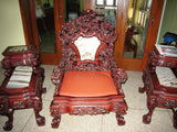 CHINESE HAND MADE ultra rare rose wood living room furniture set oriental asia antique singapore collectors piece furniture home chairs sofa