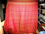 Cashmere Blanket Afghan Throw Red