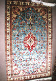 PERSIAN CARPET ORIENTAL rug genuine tharparkar sindhi pakistani indian design 3x5 hand knotted wool silk blend bedroom turquoise green kilim