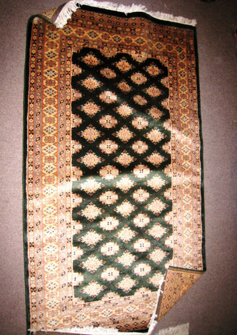 Pakistani Rug 3x5, Small, Green