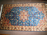 PERSIAN CARPET ORIENTAL rug genuine tharparkar pakistani sindhi indian design 3x5 hand knotted wool silk blend bedroom turquoise aqua blue