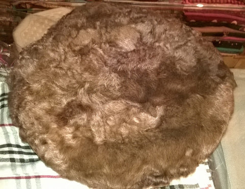 KARAKUL CAP Pakul Chitrali Pakol ethnic pashtun hat beret jinnah astrakhan massoud brown persian afghan camel color fur, Karakuli, Wool, New