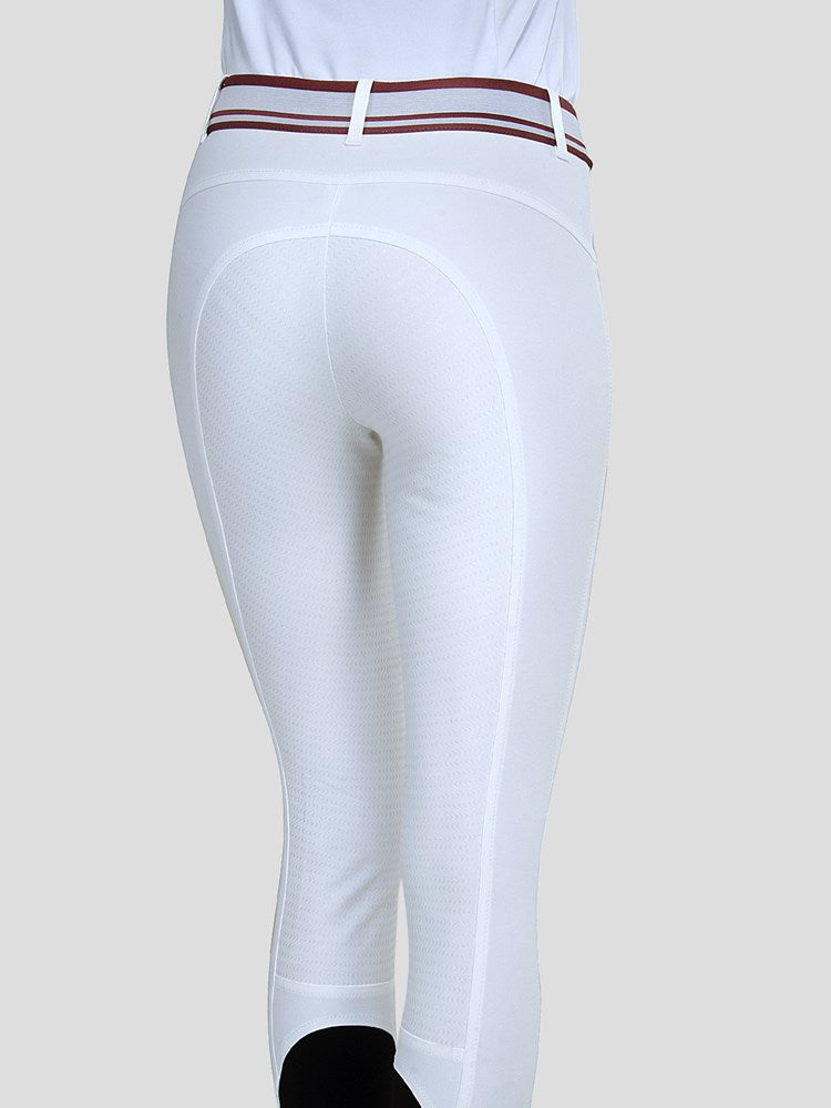 HIBISCUS - WOMEN'S FULL GRIP BREECHES WITH JACQUARD WAISTBAND