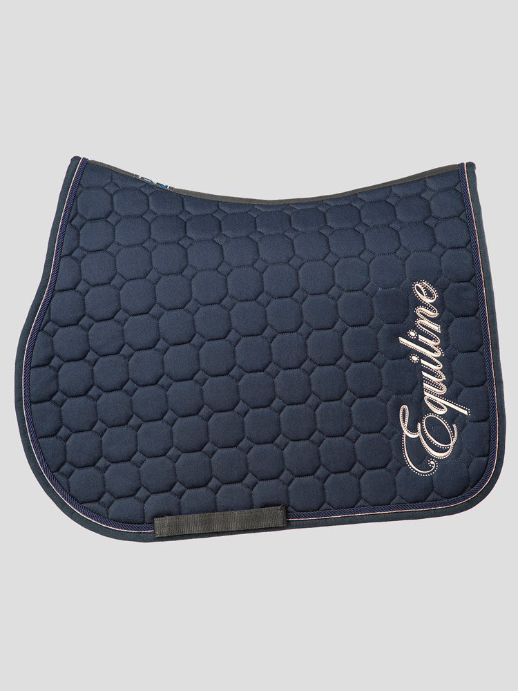 Banksia - Octagon Saddle Pad With Rose Gold Embroidery