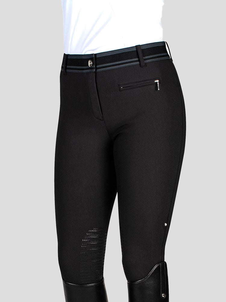 CYCLAMEN - WOMEN'S KNEE GRIP BREECHES WITH JACQUARD WAISTBAND