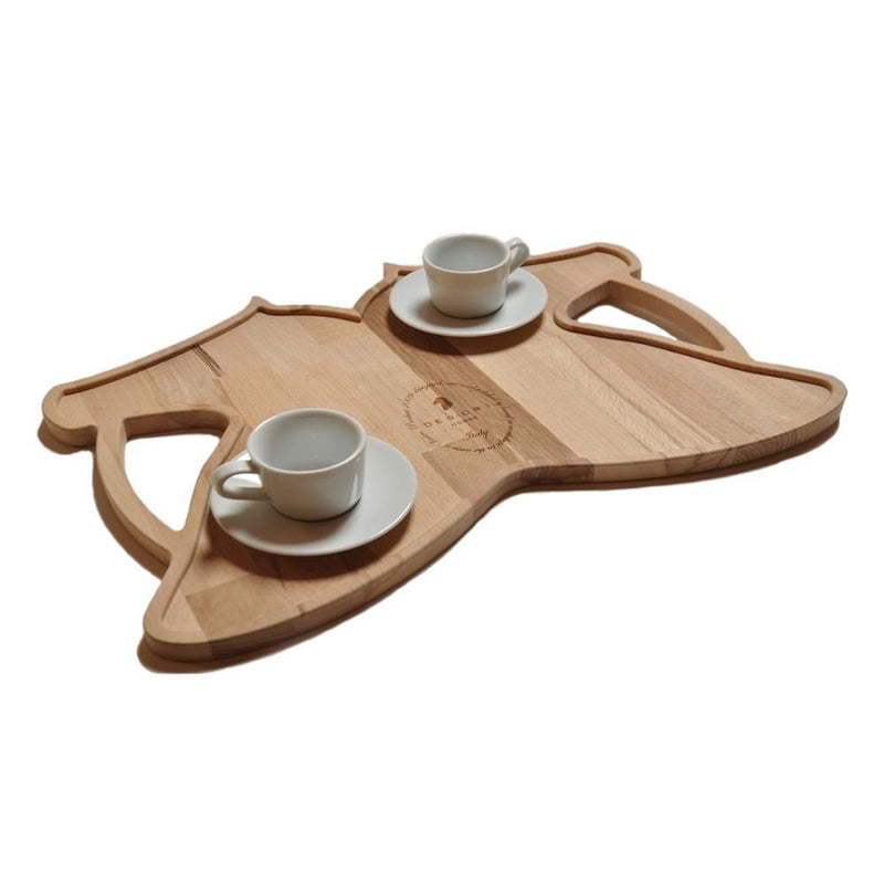 DESORI WOOD DOUBLE TRAY