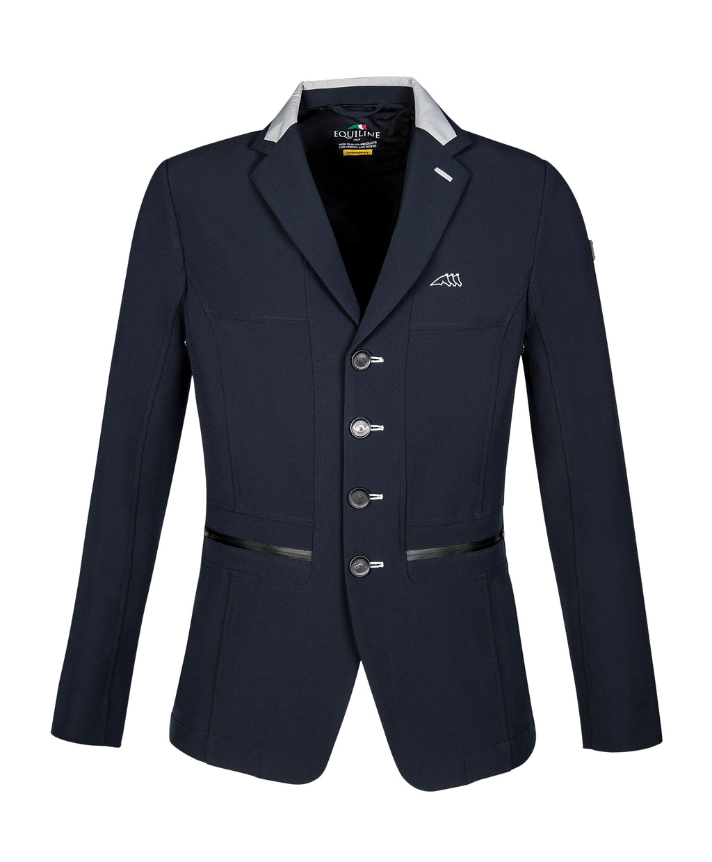 Burnt men's show coat blue