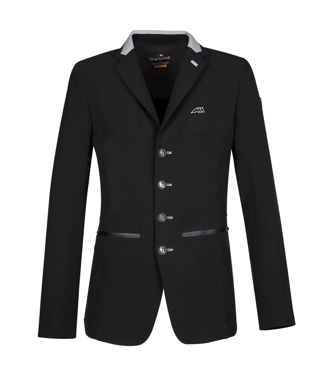 Burnt men's show coat black