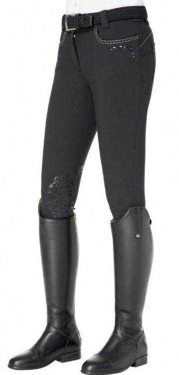 Alicia Black breeches with embroidery