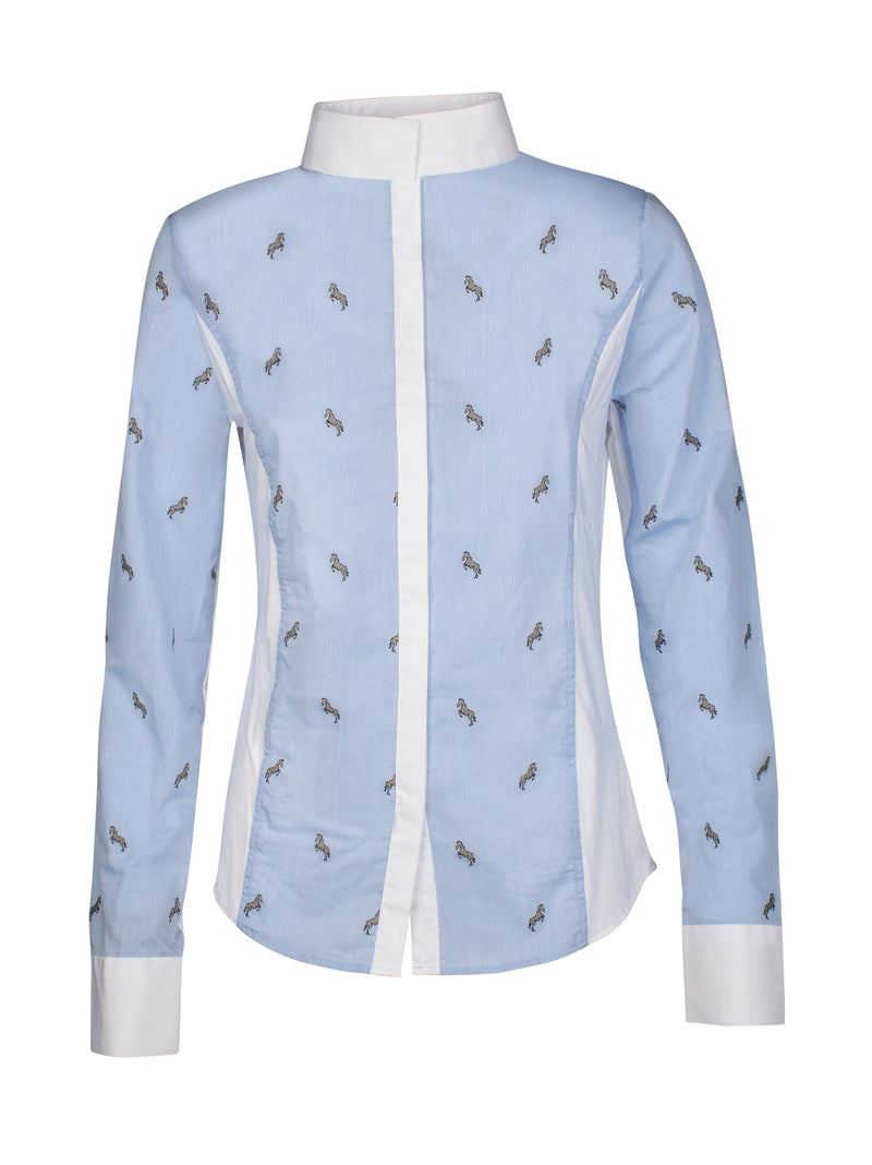Janae Equiline Women's Show Shirt Light Blue