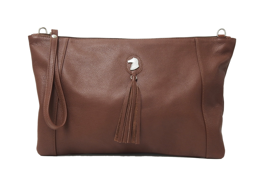 DESORI PIUMA LEATHER CONVERTIBLE CLUTCH