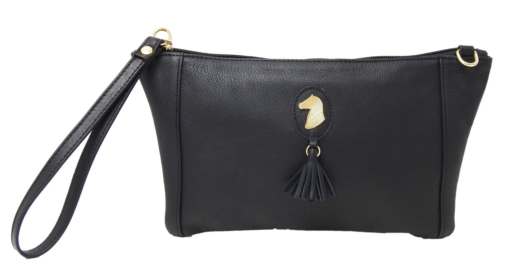 DESORI PIUMA MINI LEATHER CONVERTIBLE WRISTLET