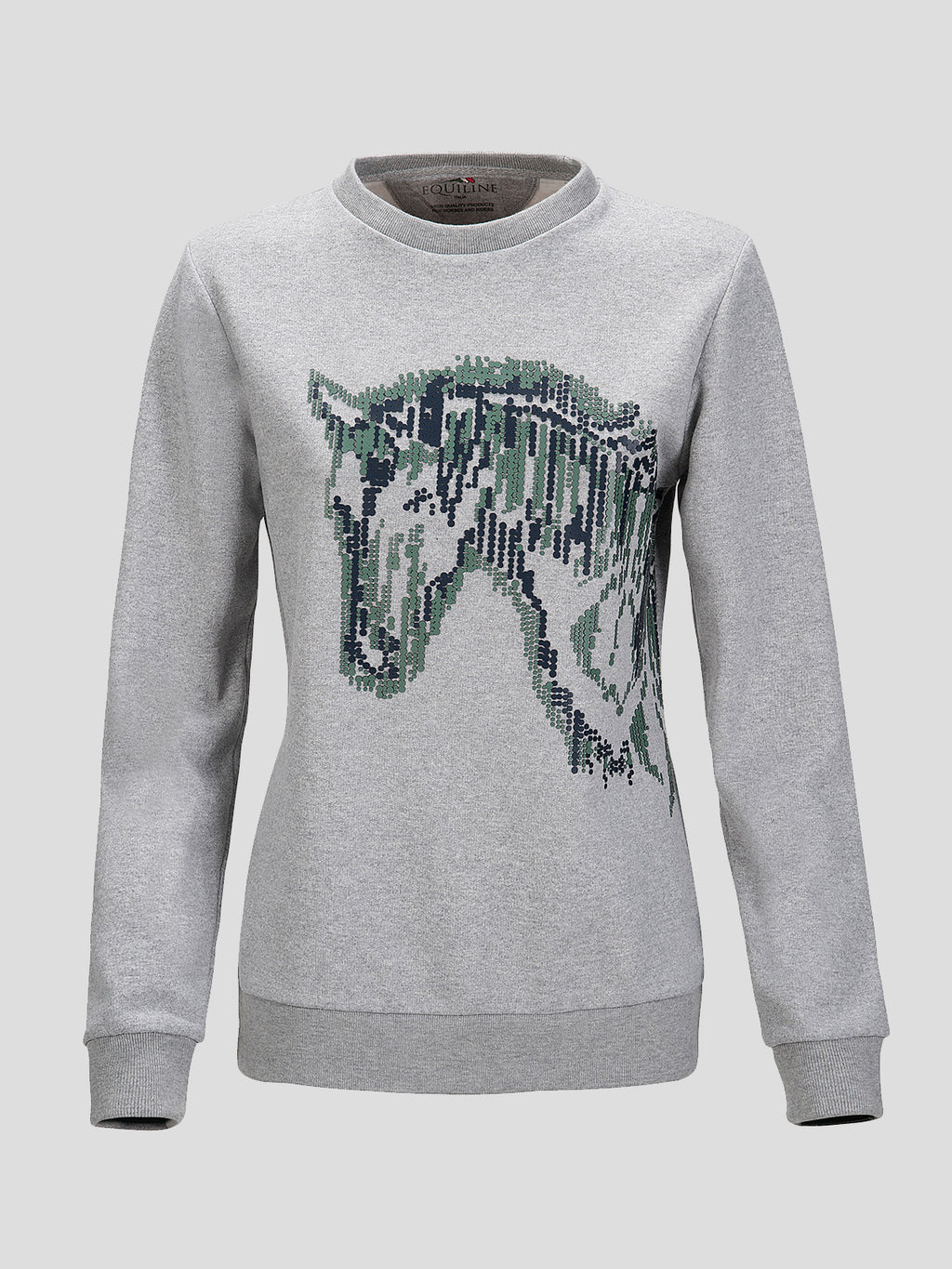 Caitriona Women's Crewneck Sweatshirt with Horse Graphic