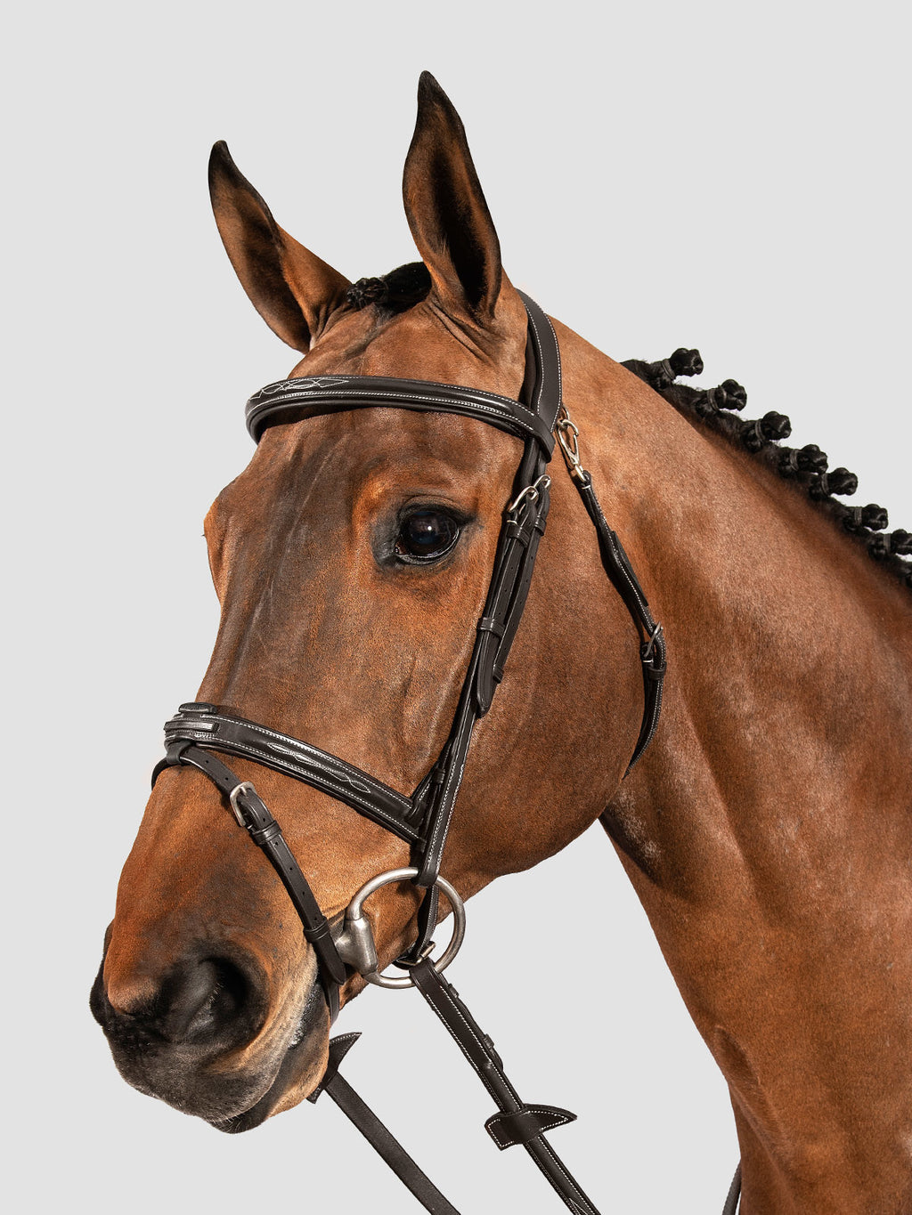 CLASSIC ROUNDED BRIDLE WITH SMALL NOSEBAND