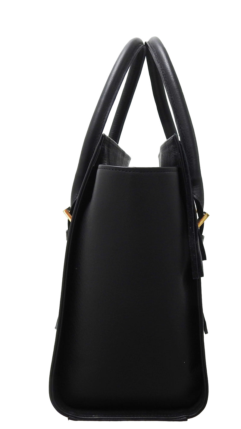 DESORI UVA SPINA FRINGES LEATHER TOTE