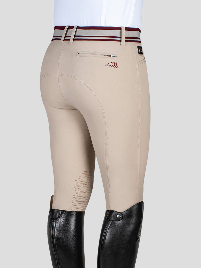 WILLIAM - MEN'S KNEE GRIP BREECHES WITH JACQUARD WAISTBAND