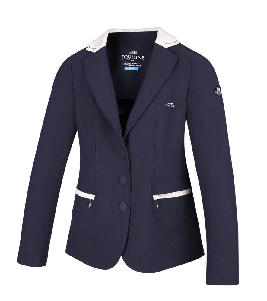 Ambra Girls Show Coat Blue