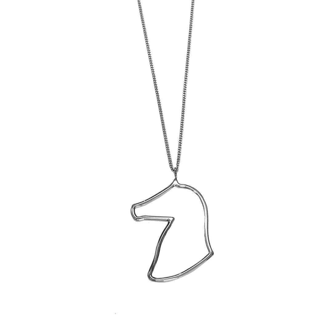 DESORI HORSE PROFILE SHORT NECKLACE