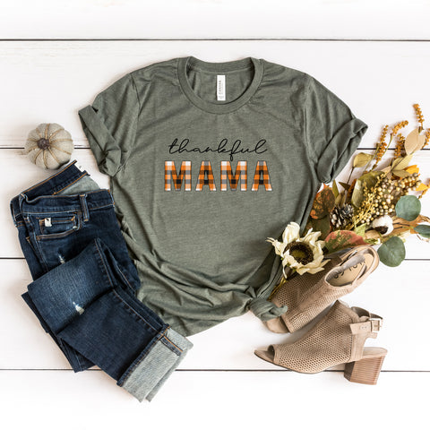 Thankful Mama Plaid | Short Sleeve Graphic Tee