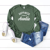 Happiness is Being an Auntie | Long Sleeve Graphic Tee