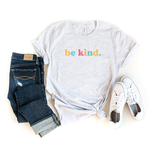 Be Kind - Colorful Words | Short Sleeve Graphic Tee