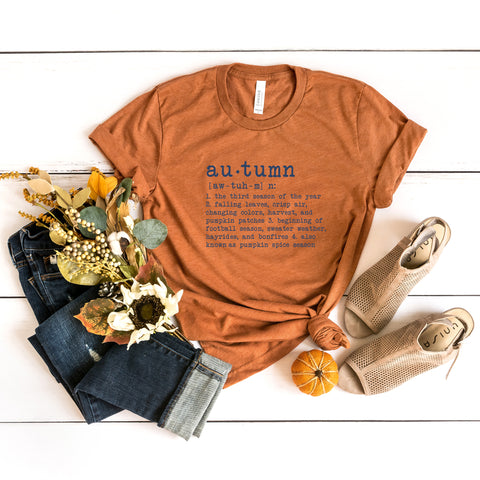 Autumn Definition Colorful Typewriter | Short Sleeve Graphic Tee