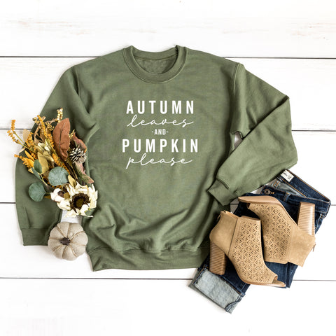 Autumn Leaves and Pumpkin Please | Sweatshirt