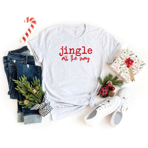 Jingle All The Way - Typewriter | Short Sleeve Graphic Tee