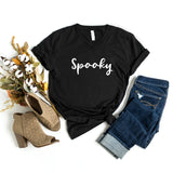 Spooky (Cursive) | V-Neck Graphic Tee