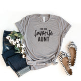 I'm the Favorite Aunt | Short Sleeve Graphic Tee
