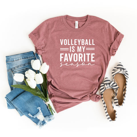 Volleyball is My Favorite Season | Short Sleeve Graphic Tee