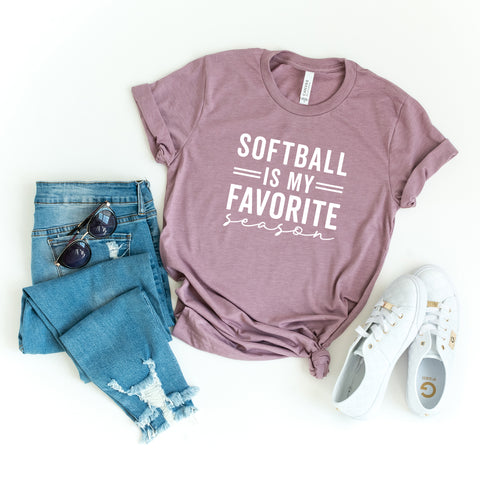 Softball is My Favorite Season | Short Sleeve Graphic Tee