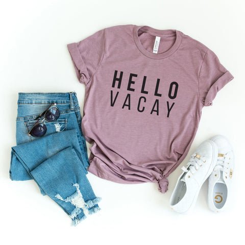 Hello Vacay Graphic | Short Sleeve Graphic Tee