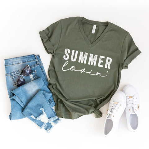 Summer Lovin' | V-Neck Graphic Tee