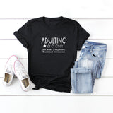 Adulting One Star Review | Short Sleeve Graphic Tee