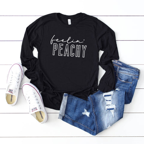 Feelin' Peachy | Long Sleeve Graphic Tee