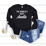 The World's Best Auntie | Long Sleeve Graphic Tee