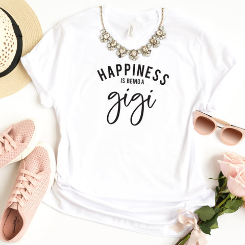 Happiness is Being a Gigi | Short Sleeve Graphic Tee