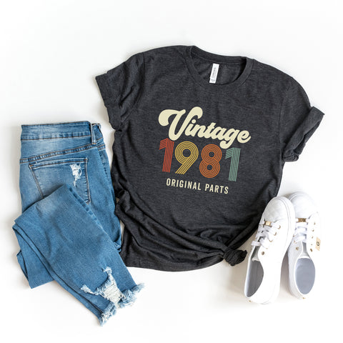 Vintage 1981 | Short Sleeve Graphic Tee