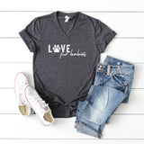 Love Fur Babies | V-Neck Graphic Tee