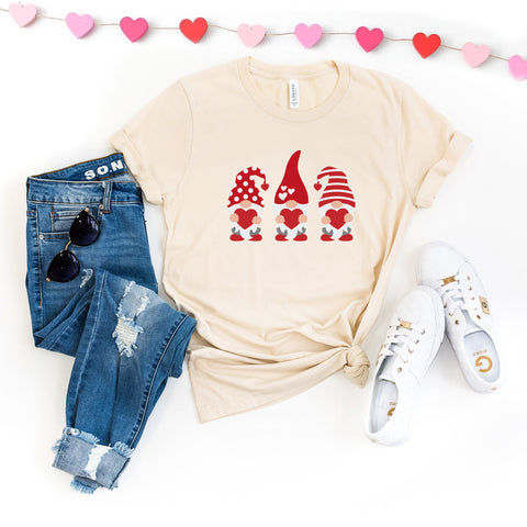 Valentine's Gnomes | Short Sleeve Graphic Tee