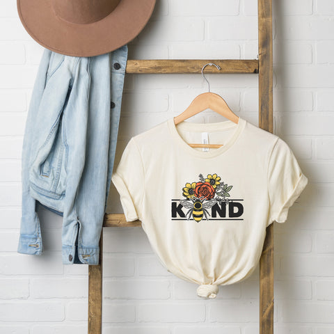 Bee Kind Floral | Short Sleeve Graphic Tee